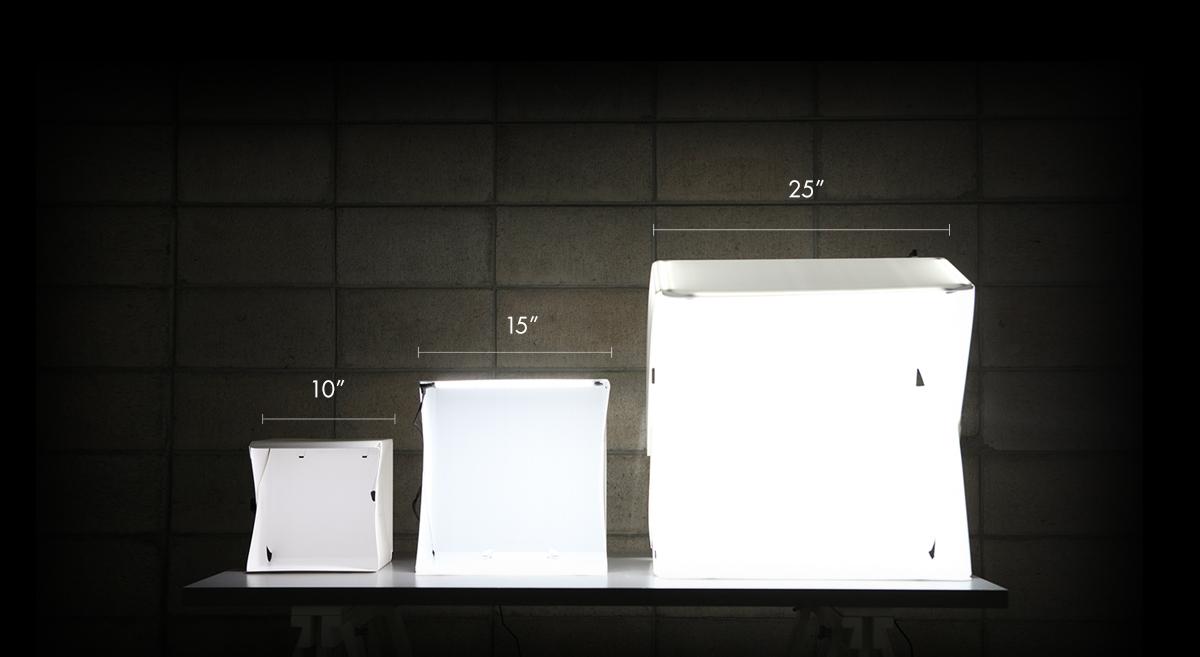 Foldio lightboxes
