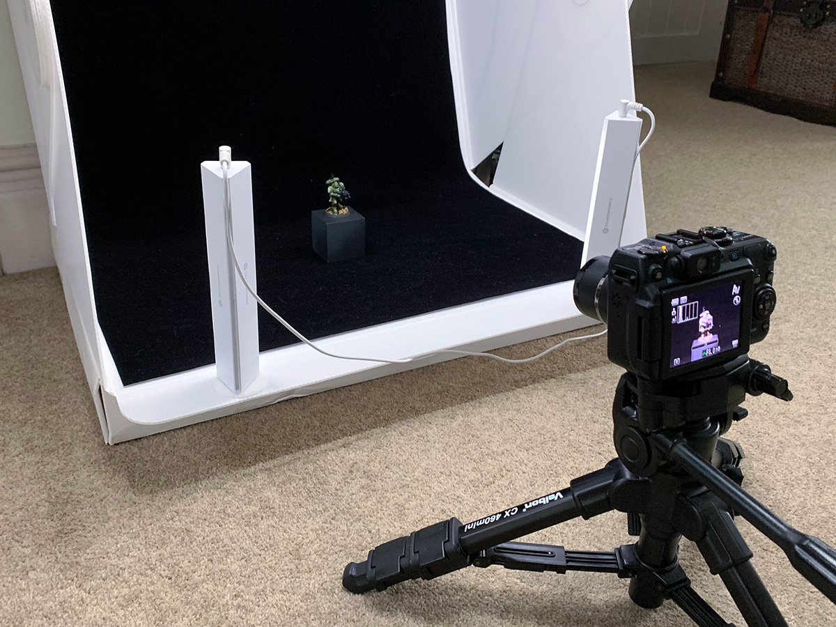 The Mighty Brush photography setup