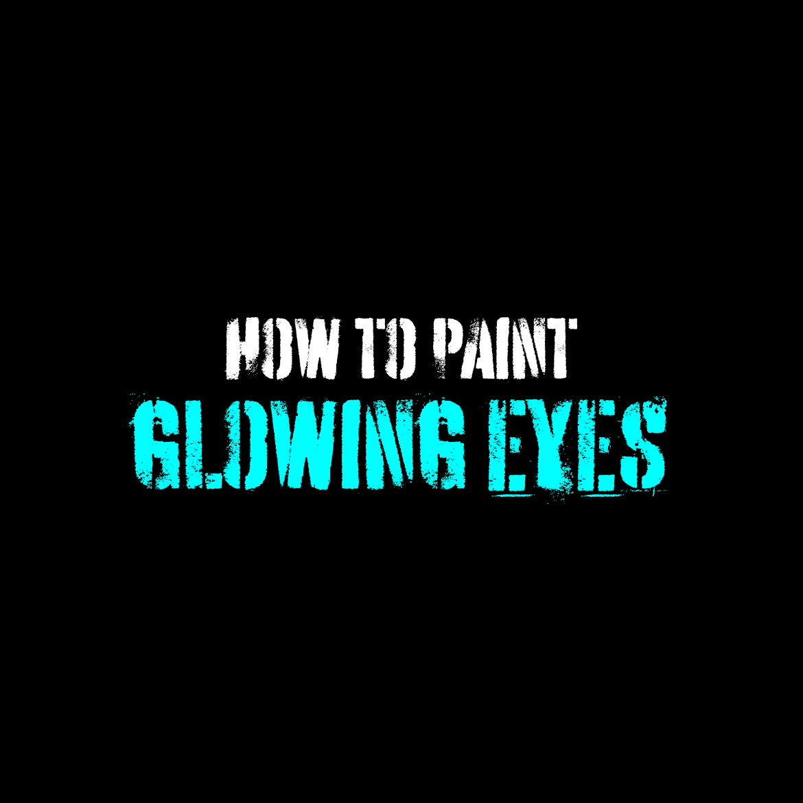 How to paint glowing Space Marine eye lenses
