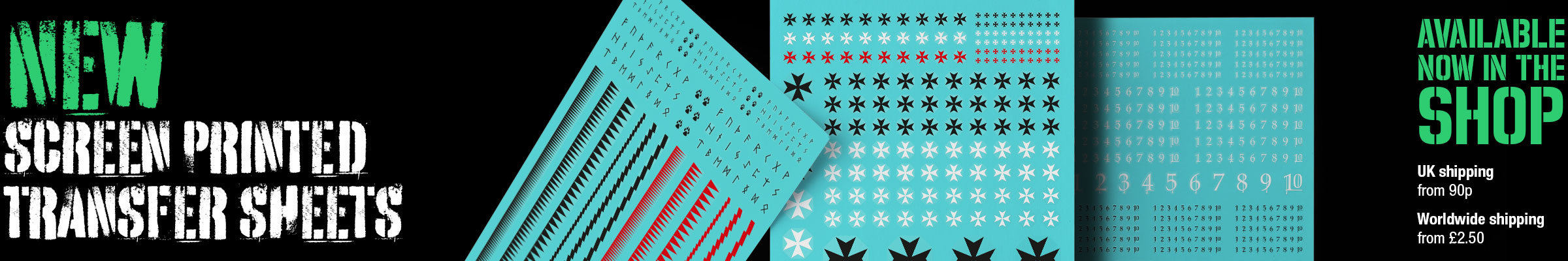 New screen printed transfer sheets now available in the shop