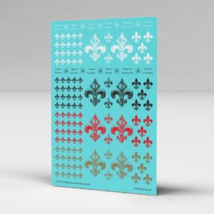 Fleur-de-lis Waterslide Transfers Decal Sheet