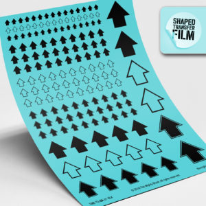 Arrows waterslide transfers sheet (black)