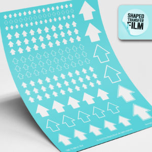Arrows waterslide transfers sheet (white)