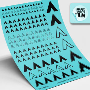 Chevrons waterslide transfers sheet (black)