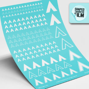 Chevrons waterslide transfers sheet (white)