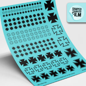Iron crosses waterslide transfers sheet (black)