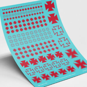 Iron cross elite transfers red