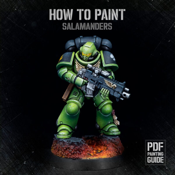 How to paint Salamanders PDF painting guide