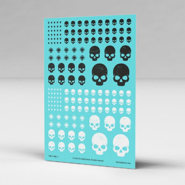 Skulls transfers decals