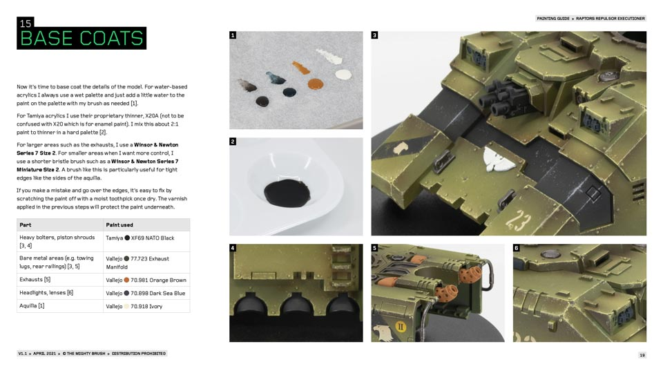 How to paint Raptors vehicles: PDF painting guide